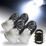 4 x White HID Hide-A-Way Emergency Hazard Warning Strobe Light Replacement Bulb