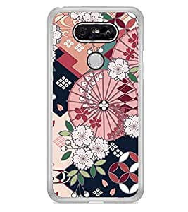 Flower Pattern 2D Hard Polycarbonate Designer Back Case Cover for LG G5 :: LG G5 Dual H860N :: LG G5 Speed H858 H850 VS987 H820 LS992 H830 US992
