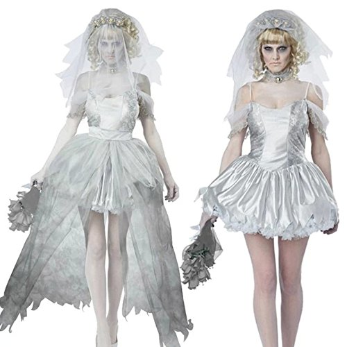 DoLoveY Ghost Bride Halloween Costumes For Women