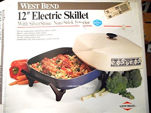 West Bend 12″ Electric Skillet 1200 Watts Non Stick Interrior Made in the USA