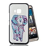 HTC One M9 Case, CLEEACC Dream Catcher Series Cartoon Elephant Painted Durable Hard Slim Lightweight PC Back Protective Case for 5 inches HTC One M9
