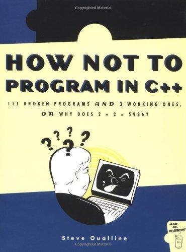 How Not to Program in C++