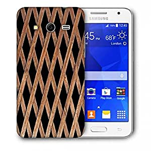 Snoogg Abstract Blocked Woods Printed Protective Phone Back Case Cover For Samsung Galaxy Core 2 / Core II G355H
