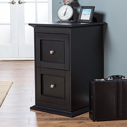 Belham Living Hampton 2-Drawer Wood File Cabinet - Black (Black Wood File Cabinet compare prices)