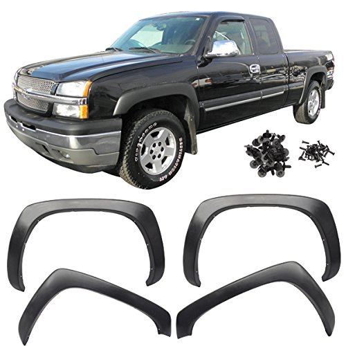 99-06 Chevy Silverado Fender Flares Vent Black OE Factory Style 4Pcs (Fender Flares For Chevy Avalanche compare prices)