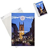 Photo Jigsaw Puzzle of Christmas lights and Cathedral at dusk, Derby, Derbyshire, England, United from Robert Harding