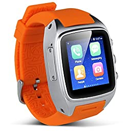Padgene Android 4.4.2 Watch Phone, Bluetooth 4.0, NFC, WiFi, 2.0MP Camera, Support 2G / 3G GSM Network, Orange