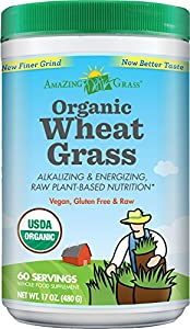 Amazing Grass Organic Wheat Grass Powder, 60 Servings, 17-Ounce Container