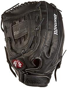 Nokona Buckaroo Fastpitch Softball Glove, Right Hand, 12-Inch, Black