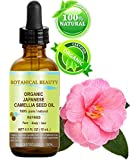 Japanese ORGANIC CAMELLIA Seed Oil. 100% Pure / Natural / Undiluted / Refined / Cold Pressed Carrier Oil. Rich antioxidant to revitalize and rejuvenate the hair, skin and nails. 0.5 Fl.oz-15ml. by Botanical Beauty