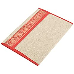 In Design Cardboard Jute File Folder With Flap (EH69, Red)