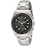 Casio Men's MTP4500D-1AV Slide Rule Bezel Aviator Stainless Steel Watch