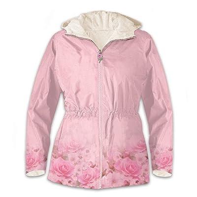 Pink Rose Anorak Fleece-Lined Women's Jacket by The Bradford Exchange