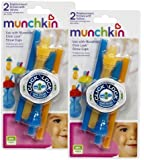 Munchkin Click Lock Replacement Straws, Blue/Orange, 4-Count
