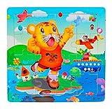 Ularma Madera de los cabritos 16 pieza rompecabezas juguetes para la educaci�n de los ni�os y Puzzles juguetes de aprendizaje (multicolor12)