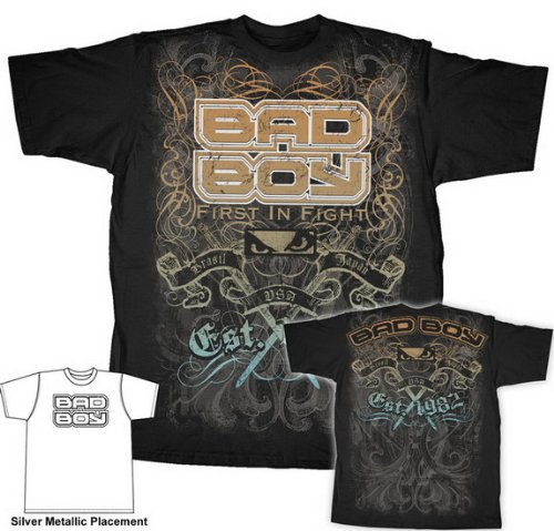 Bad Boy Mixed Martial Arts MMA Fighting THRASHER Adult Black T-shirt Tee Shirt