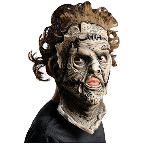 [Leatherface 3/4 Mask Child Costume Mask Kids Texas Chainsaw Massacre Halloween] (Texas Chainsaw Massacre Costume For Kids)