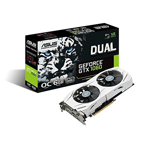 ASUS GeForce 6GB Dual-Fan OC Edition VR Ready Dual HDMI DP 1.4 Gaming Graphics Card DUAL-GTX1060-O6G (Asus Fan compare prices)