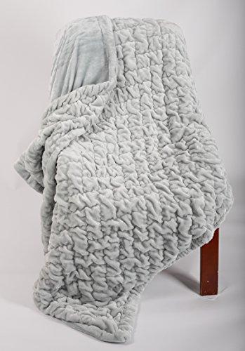 Longrich Premium Quilted Flannel Throw Blanket, 80
