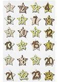 Mini-Holzzahlen-Set, 1-24 sortiert, ca. 25mm, schlamm-farben