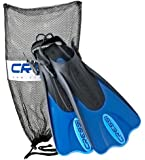 Cressi Palau Short Snorkeling Swim Fins with Mesh Bag