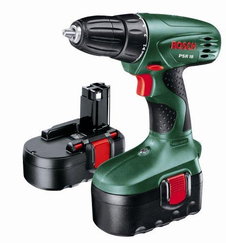 Bosch PSR 18 Cordless 18 Volt Drill/Driver, 2 x NiCD Batteries