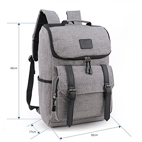 weekend shopper lightweight canvas leather travel backpack. Black Bedroom Furniture Sets. Home Design Ideas