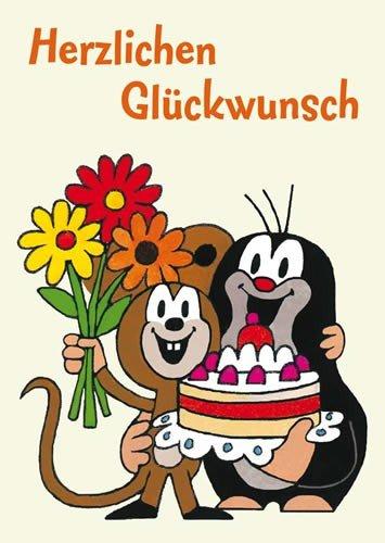 Postkarte A6 +++ DER KLEINE MAULWURF von modern times +++ MW HERZLICHEN GLÜCKWUNSCH +++ KARTENKOMBINAT © MILER, Zdenek