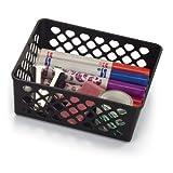 Achieva Medium Supply Basket, Pack of 3, Recycled, Black (26201)