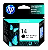 Hp Hewlett Packard Ink Inkjet Black Print Printer Fax Printer Copier Cartridge No 14 – Print Cartridge