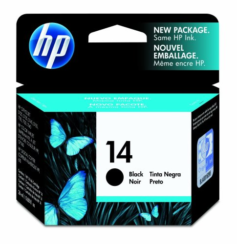 Hp Hewlett Packard Ink Inkjet Black Print Printer Fax Printer Copier Cartridge No 14 - Print Cartridge