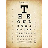 Einstein Eye Chart, Art Poster
