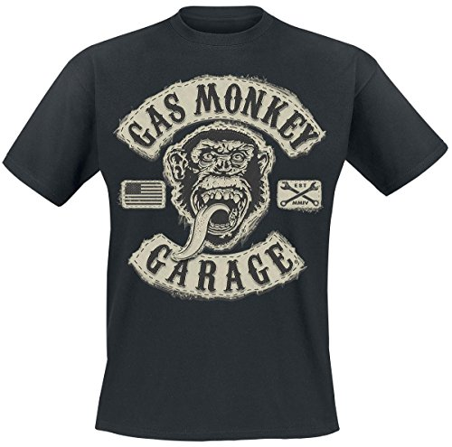 Gas Monkey Garage GMG Patch T-Shirt nero XXL