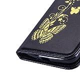 Coque-pour-LG-K5-Housse-en-cuir-pour-LG-K5Cozy-Hut-Bronzante-Papillon-Fleur-imprim-tui-en-cuir-PU-Cuir-Flip-Magntique-Portefeuille-Etui-Housse-de-Protection-Coque-tui-Case-Cover-avec-Stand-Support-Ave