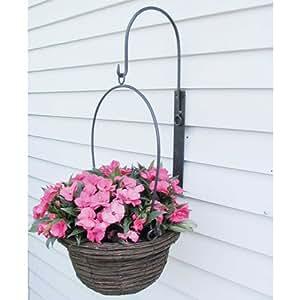 Tierra Garden 33725 Hanging 28-3/4-Inch High Basket with Wall Bracket, Bronze (Discontinued by Manufacturer)