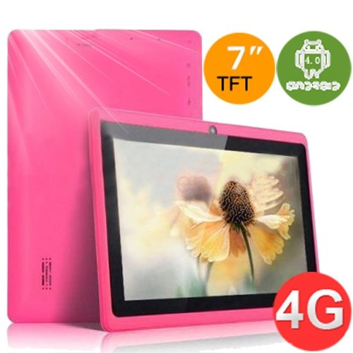PINK Color 7.0 ZEEPAD(TM) ANDROID 4.0 TABLET PC COMPUTER 4GB WIFI, CAMERA, YOUTUBE, GAMES , SKYPE VIDEO CALLING &NETFLIX MOVIES