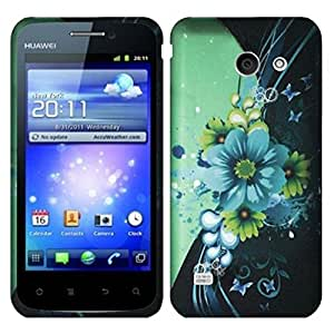 HR Wireless Rubberized Design Case for Huawei Tribute Fusion 3 Y536 - Retail Packaging - Sublime Flower