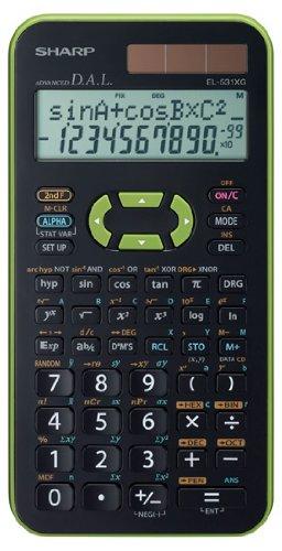 sharp-el-531-xg-gr-scientific-calculator-2-line-display-green-twin-power-272-functions-for-grammar-s