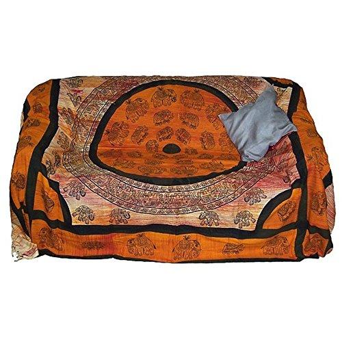 Colcha Elefante naranja 230x205cm Algodón Cortina