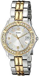 GUESS Women's U0026L1 Dazzling Sporty Silver & Gold-Tone Mid-Size Watch