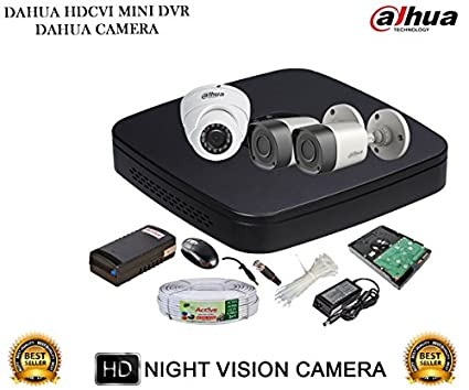 Dahua-DH-HCVR4104C-S2-4CH-Dvr,-2(DH-HAC-HFW1000RP)-Bullet,-1(DH-HAC-HDW1000RP)-Dome-Cameras-(With-Accessories,-1TB-HDD)