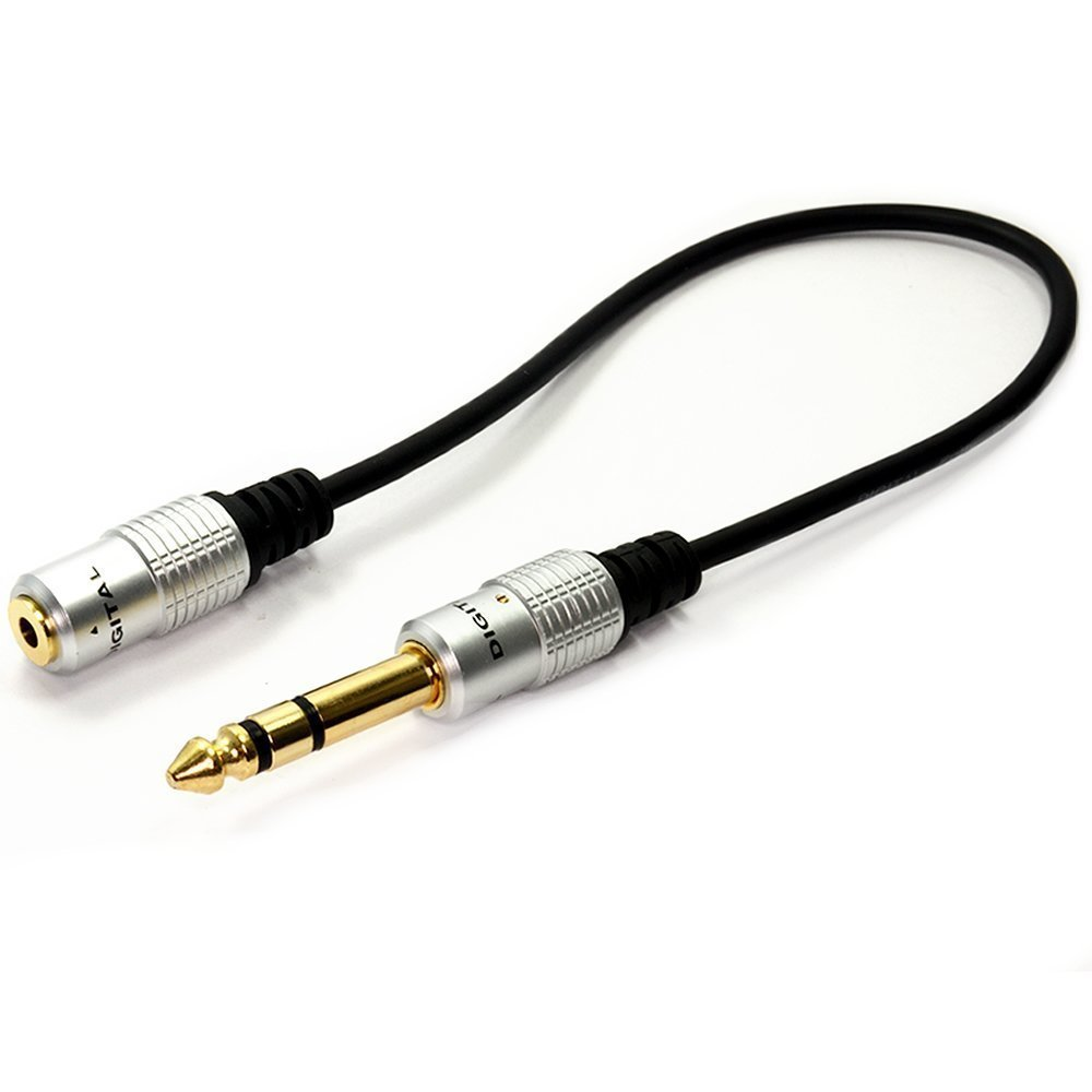 HengSheng® Metal 6. 35mm 1/4 Inch Stereo Plug male to 3. 5mm Stereo Jack female cable - Gold Plated ugreen 6 5mm 1 4 male plug to 3 5mm 1 8 female jack stereo headphone headset audio adapter plug for microphone