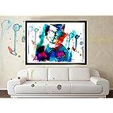 Original Johnny Depp Water Color Poster Art, Home Decor - Lotus Wealth Art, Improve Wealth In Your Home - No Frame...