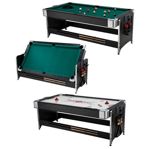 Best Price! Fat Cat 7-Foot Black Pockey Combination Table