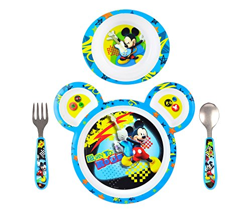 The First Years Mickey Mouse 4 Piece Feeding Set front-1048727