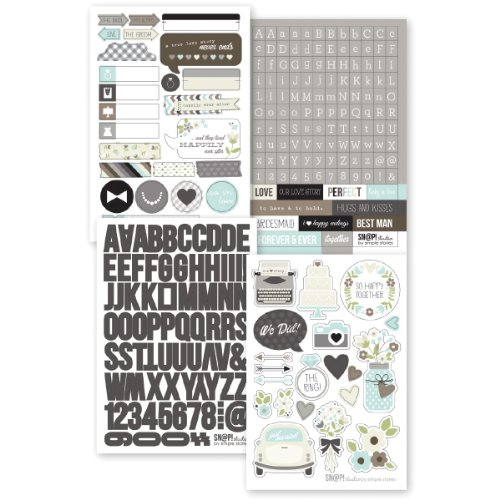 Simple Stories Snatp! Stickers Sheets, 4 by 6-Inch, Wedding, 4-Pack - 1