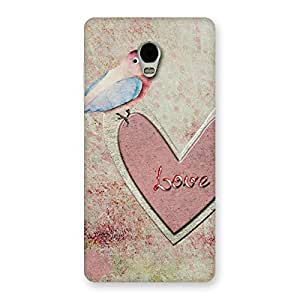 Cute Bird On Heart Print Back Case Cover for Lenovo Vibe P1