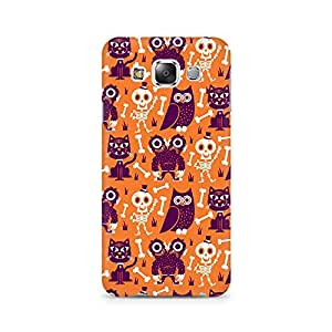 Motivatebox- Owls and Skull Premium Printed Case For Samsung Grand 3 G7200 -Matte Polycarbonate 3D Hard case Mobile Cell Phone Protective BACK CASE COVER. Hard Shockproof Scratch-