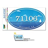 Graphics and More Zip Code 71106 Shreveport, LA Euro Oval Window Bumper Glossy Laminated Sticker – Ocean Nautical