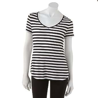 apt 9 essential striped tee women 39 s at amazon women s clothing